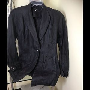 LIDA BADAY Linen Vintage 1990s Blazer Jacket Top
